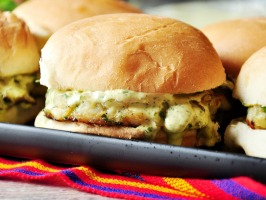 Scallop Sliders with Cilantro & Lime Aioli