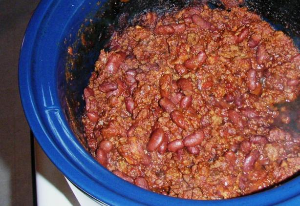 Crock Pot Chili Con Carne With Beans. Photo by Jamie1094