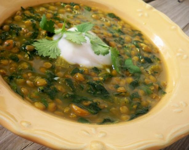 Curried Lentil and Spinach Soup. Photo by *Parsley*
