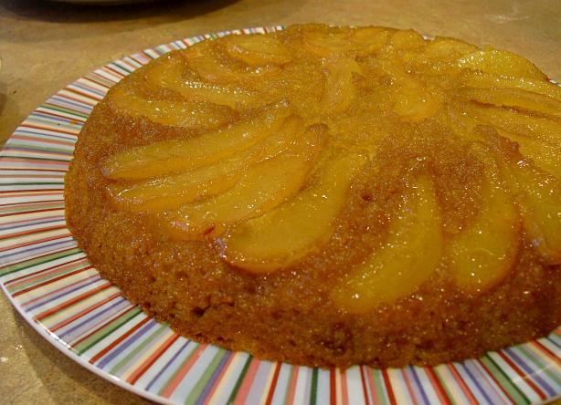 Maple-pear Upside-down Cake Recipe - Food.com