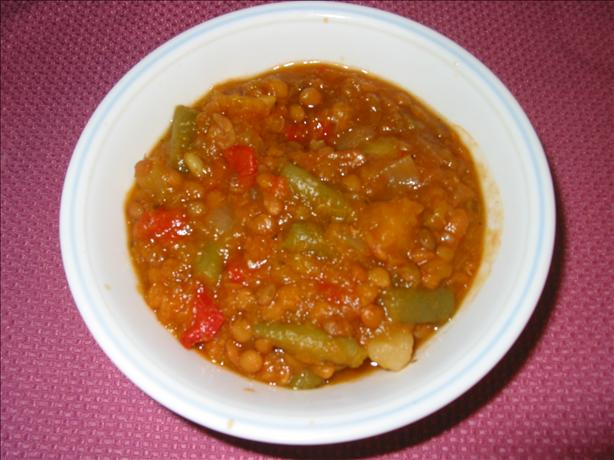 Italian Lentil & Vegetable Stew (Crock Pot). Photo by kindcook
