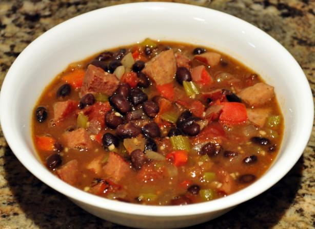 Black Bean And Smoked Sausage Soup Recipe - Food.com