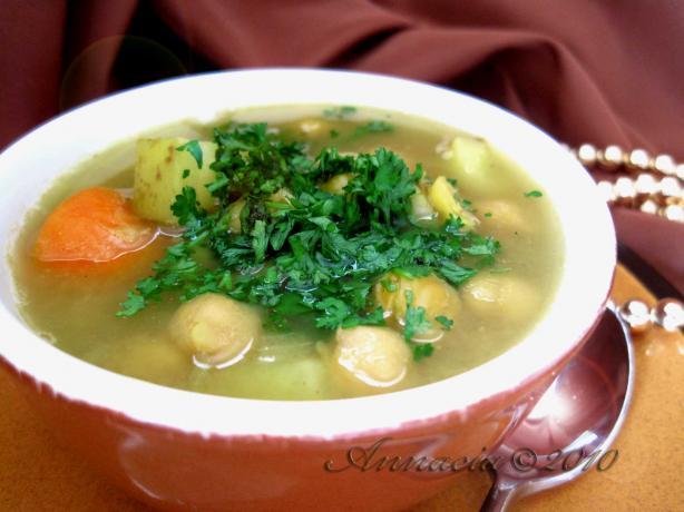 Moroccan Chickpea Soup. Photo by Annacia