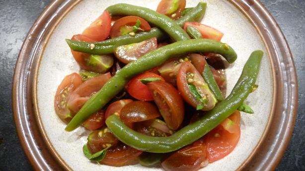 Green Bean and Cherry Tomato Salad. Photo by lemon-yellow