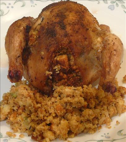 ... Girls Southern Roast Chicken With Cornbread Stuffing Recipe - Food.com