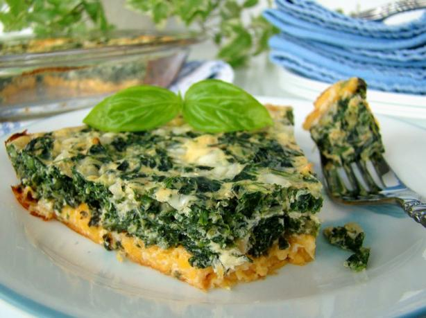 Crustless Spinach Quiche (Low Fat). Photo by Marg (CaymanDesigns)