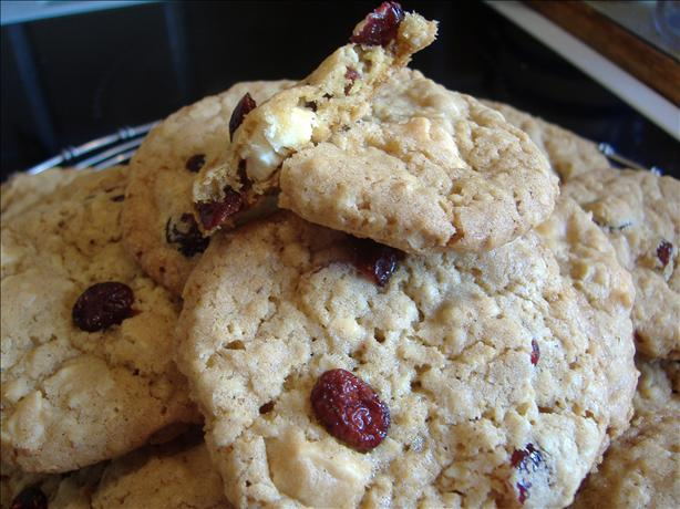 White Chocolate Chip Cranberry Oatmeal Cookies. Photo by Tasty Tidbits