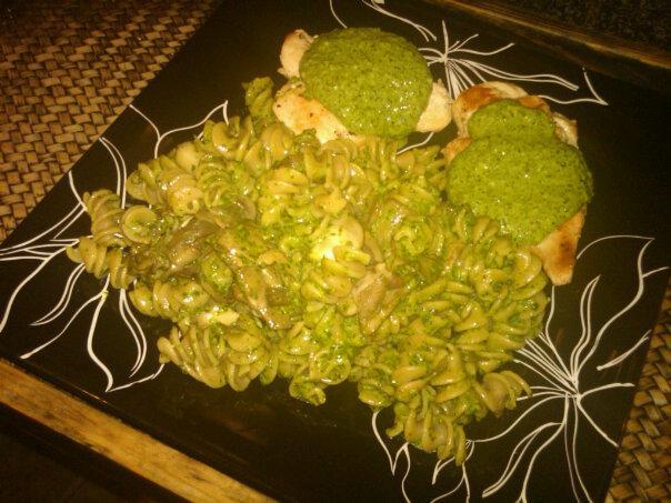 Spinach Ala Pesto Pasta. Photo by Ithinkinpink