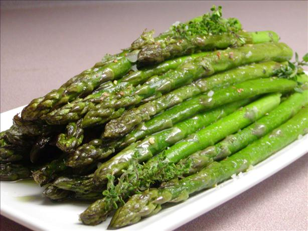 Roasted Asparagus With Garlic And Fresh Thyme Recipe - Food.com