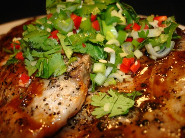 Hoisin Glazed Pork Chops With Thai Power Pack. Photo by Vicki in CT