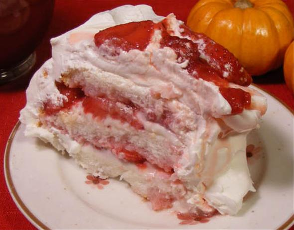 Strawberry Angel Cake. Photo by Lavender Lynn
