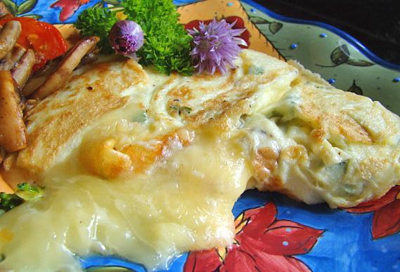 Cheesy Chive Blossom Omelet Recipe - Food.com