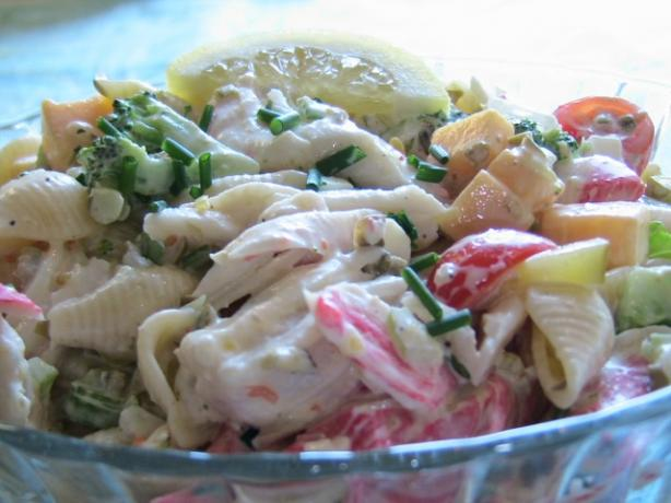The Ultimate Creamy Chilled Seafood Pasta Salad Recipe - Food.com