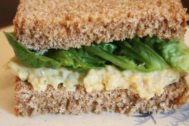 Vegetarian Chickpea Sandwich Filling. Photo by Enjolinfam
