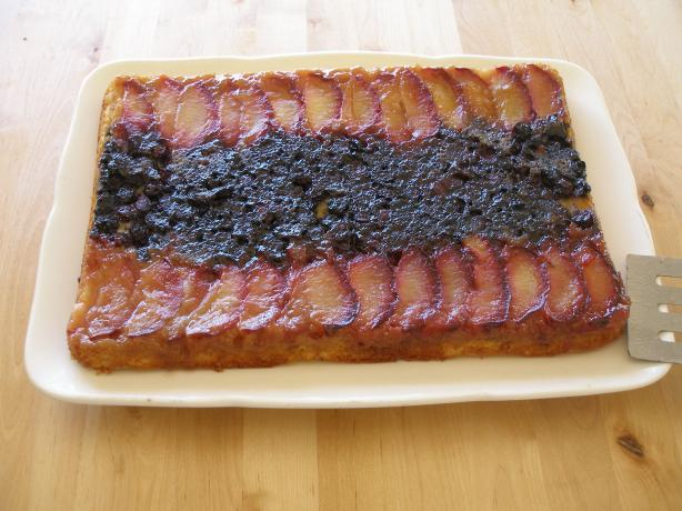 Plum Delicious Upside-Down Cake. Photo by Stroopwafel
