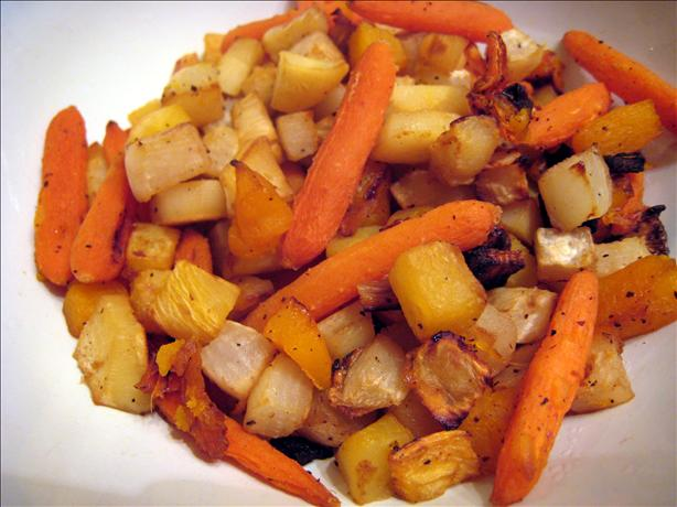 Roasted Winter Root Vegetables With Apple Cider Recipe - Food.com