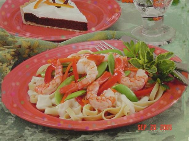 Shrimp And Veggie Alfredo Recipe - Food.com