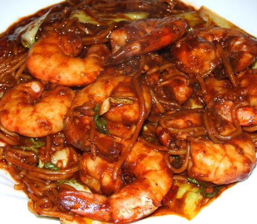 Singapore Chilli Prawns (Shrimp). Photo by Peter J