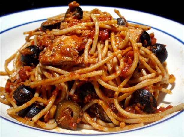 Spaghetti with italian tuna and capers recipe italian for Recipes for tuna fish