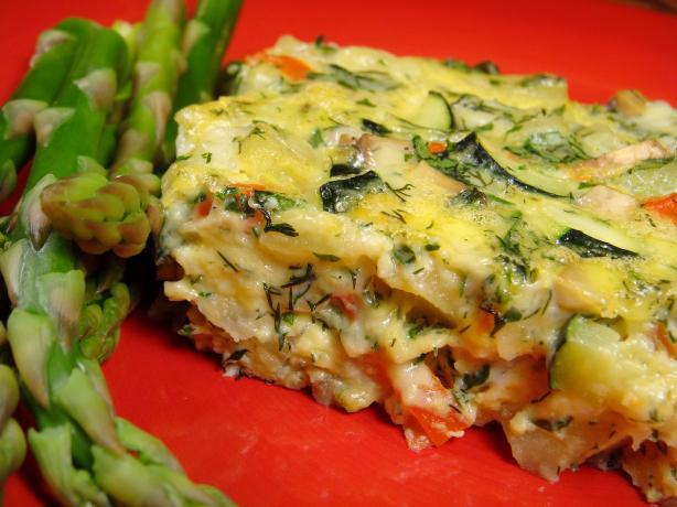 Zucchini and Potato Frittata. Photo by Lori Mama