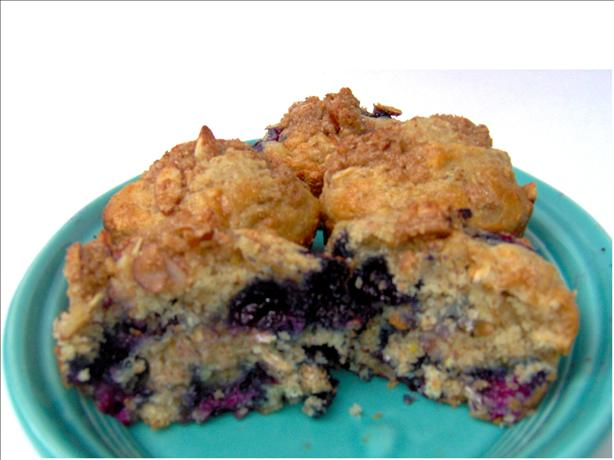 Blueberry Muffins With Almond Streusel. Photo by Sharon123