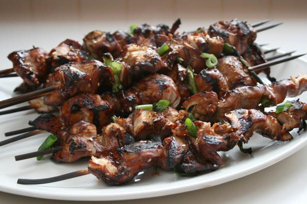 Skewered Korean Chicken and Green Onions. Photo by Cookin-jo