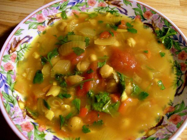 Hasa Al Hummus - Moroccan Chickpea Soup Recipe - Low-cholesterol.Food ...