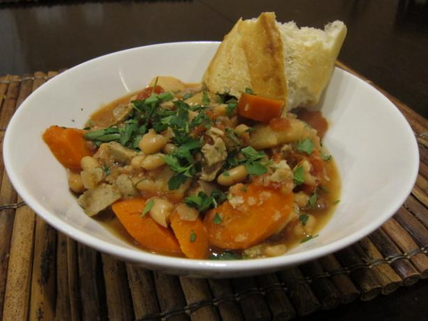 Thyme-Scented White Bean Cassoulet. Photo by Dr. Jenny