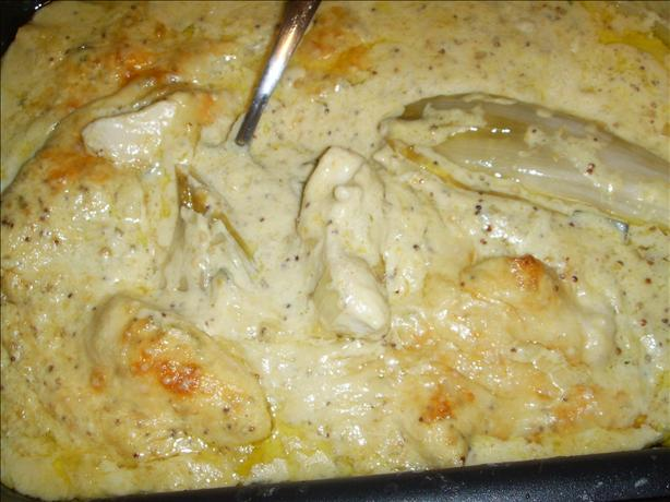 Baked Chicory/Endive With Chicken in a Sage and Mustard Sauce. Photo ...