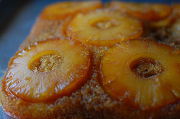 Pineapple Upside Down Cake Made With Yellow Cake Mix