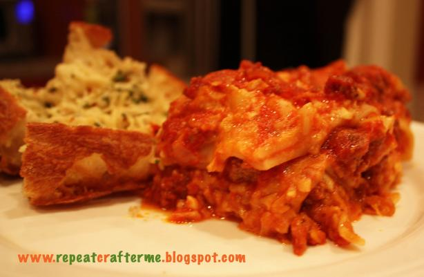 Easy Crock Pot Lasagna. Photo by RepeatCrafterMe