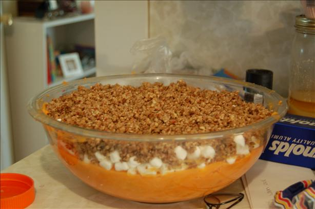 Sweet Potatoes With Pecan Praline Streusel. Photo by MommyMakes