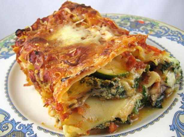 Vegetarian Lasagna. Photo by Kathy at Food.com