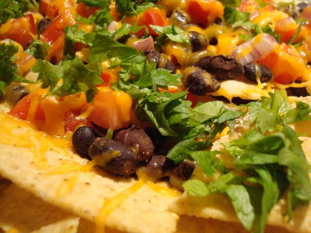 Black Bean Nachos With Chipotle Tabasco. Photo by Starrynews