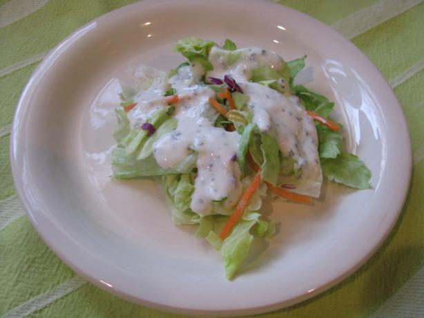 Low Fat Buttermilk Basil Salad Dressing. Photo by Brookelynne26
