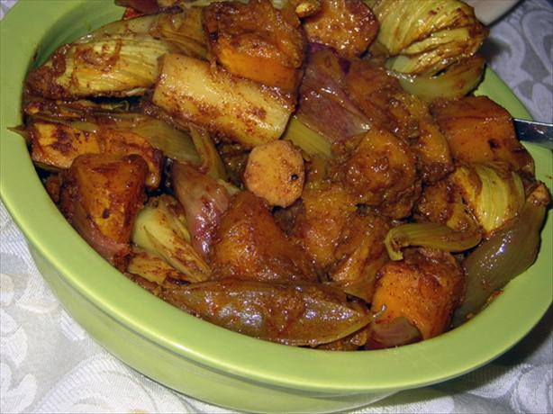Spiced Winter Squash With Fennel Recipe - Thanksgiving.Food.com