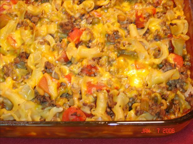 Beef Macaroni Casserole. Photo by lets.eat
