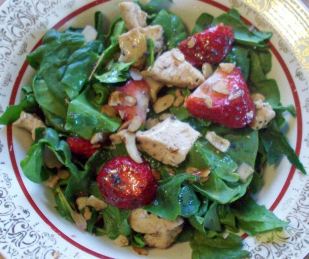 Chicken And Strawberry Spinach Salad Recipe - Food.com