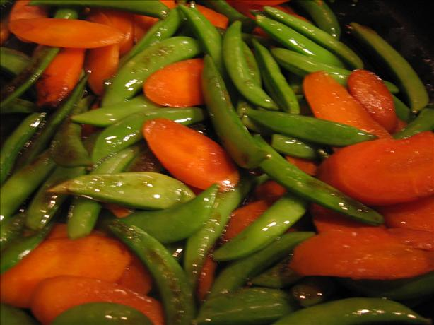 Sugar Snap Pea and Carrot Saute. Photo by riffraff