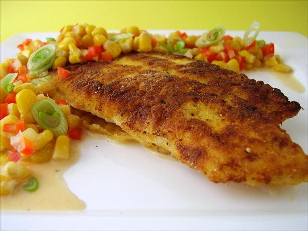 Southern-Cornmeal Crusted Catfish With Crunchy Corn Relish. Photo by ...