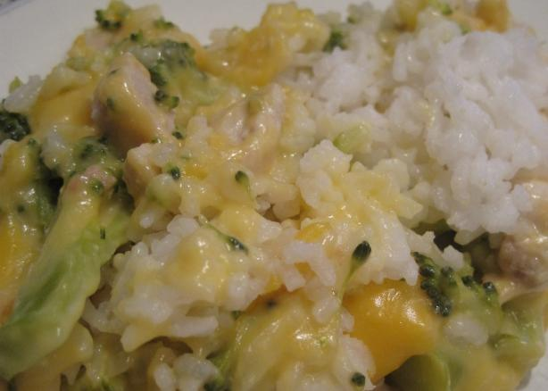 Chicken Broccoli Rice and Cheese Casserole. Photo by jswinks