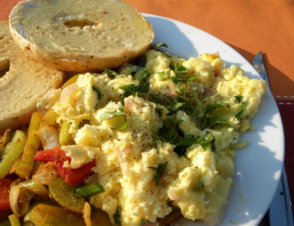 fluffy scrambled eggs with fresh herbs recipe. Black Bedroom Furniture Sets. Home Design Ideas
