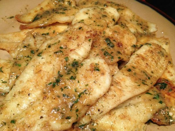easy pan fried sole fish with lemon butter sauce recipe