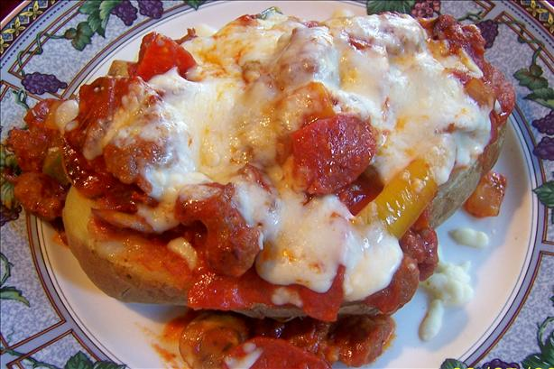 Pizza Stuffed Baked Potatoes Recipe - Food.com
