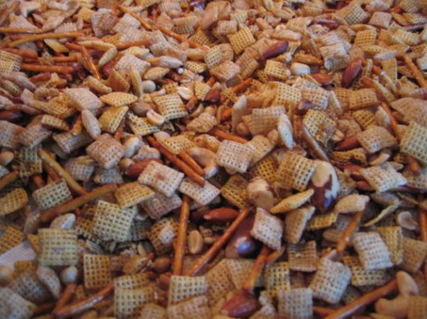 Traditional Chex Party Mix. Photo by Brenda.