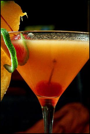 Carolina Cantaloupe Martini. Photo by NcMysteryShopper