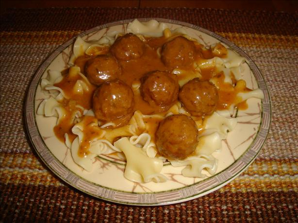 Meatballs in Hungarian Sour Cream Gravy. Photo by *Pixie*