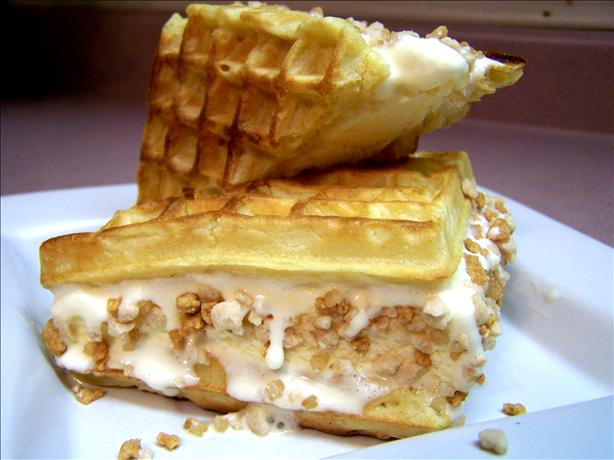 Waffle Ice Cream Sandwiches With The Works! Recipe - Food.com