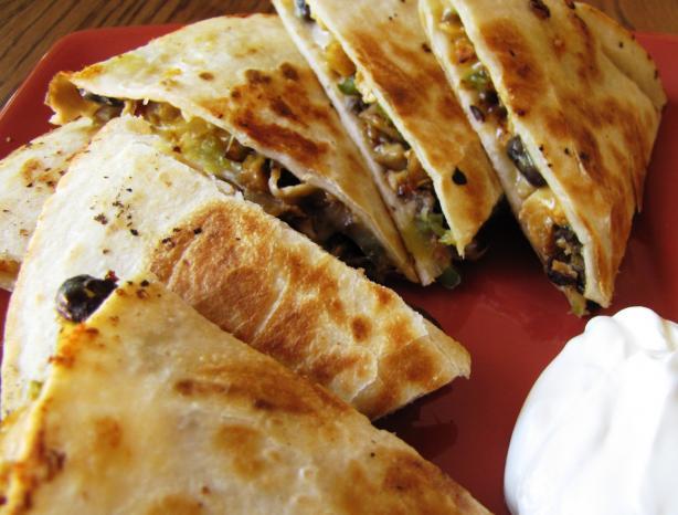 Chicken Mushroom Quesadilla Recipe - Food.com