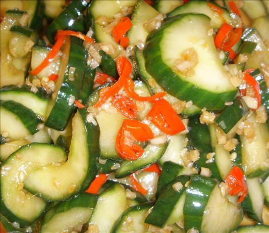 Crunchy Chinese Cucumber Salad. Photo by tigerduck